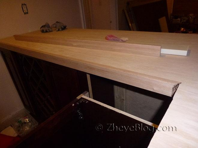 Then I Glued The Oak Strips To The Edges Of The Bar Top With Heavy Duty  Liquid Nails. The Liquid Nails Were So Strong That There Was No Need To Use  Nails Or ...